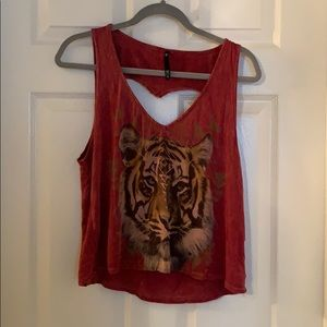 Tiger Heart Open-Back Tank